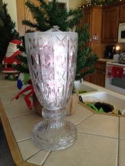 Lamp upcycled to vase