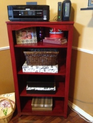 particle board shelf makeover