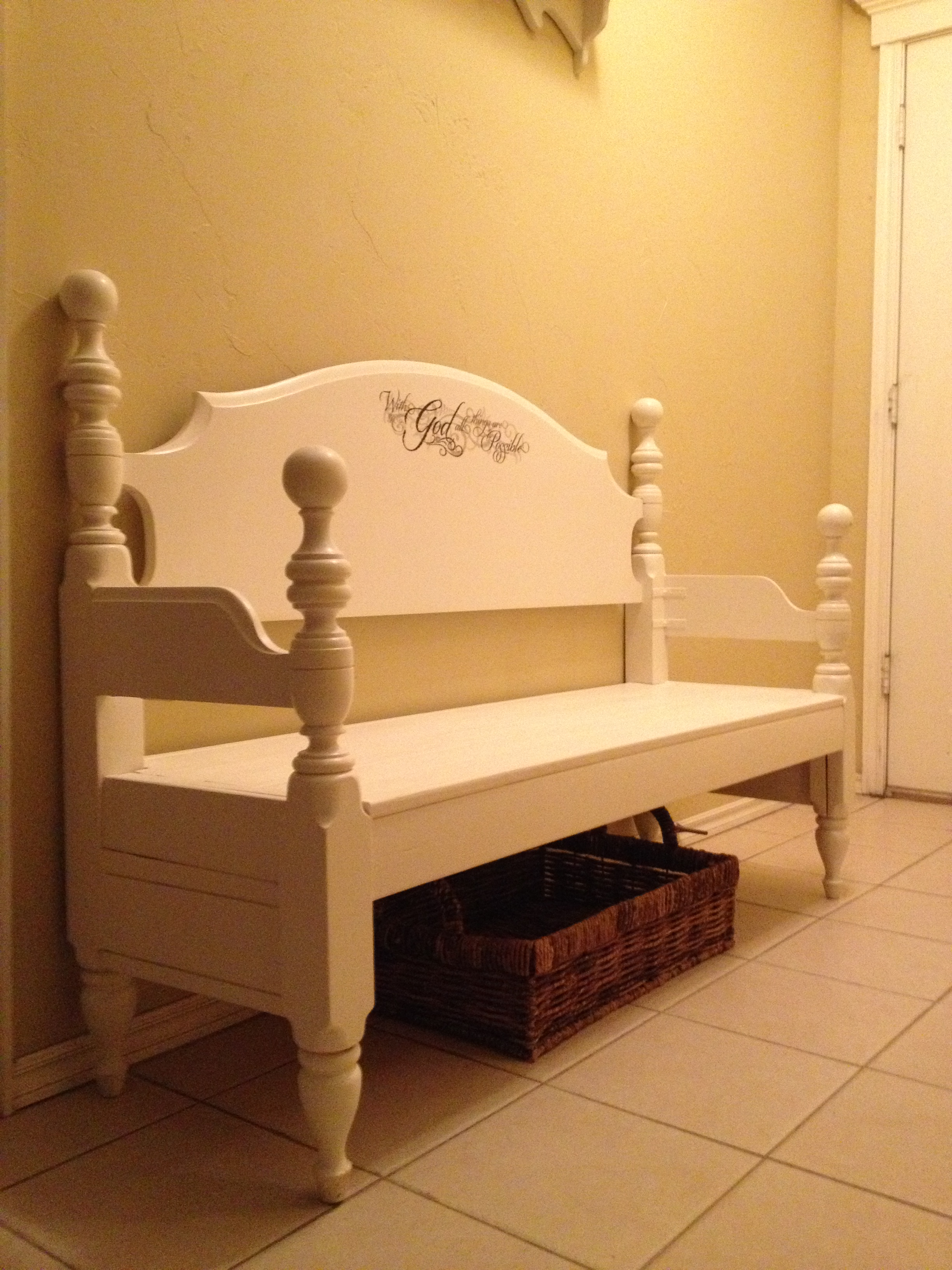 Bench By Bed: From Bed To Bench!
